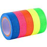 Jovitec Spike Tape Rubans Fluorescents Adhésif Gaffer Tape Rubans Réactifs au Néon UV Blacklight pour...