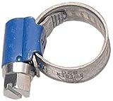Aparoli 841445 Lot de 10 colliers de serrage à vis sans fin Original ABA Bleu 10-16 mm largeur 9 mm
