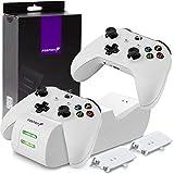 Fosmon Chargeur Manette Xbox One, Rapide Dual Station de Recharge avec 2 Batteries Rechargeables de 1000mAh...