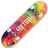 QYSZYG Skateboard à roulettes Double Haut pour Adulte débutant High School Students Brush Street Cool...