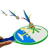 Toyvian Plage Balle Jeu Cible Aspiration Raquette Plume Balle Jeu Intérieur Extérieur Enfants Bureau Sports...