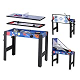 homelikesport Table Multi Jeux 5 en 1 Table de Jeux, pour Hockey, Billard, Basket, Tennis de Table, Arc, 91.5...