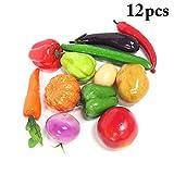 Justdolife 12PCS Légumes Artificiels Multifonctionnels Accessoires De Photo De Légumes Réalistes
