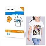 20 Feuilles De Papier Transfert Pour Imprimantes Jet D'encre Pour T-shirt De Couleur Claire 21 x 30 CM