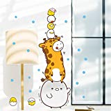 Stickers Muraux Girafe Poussin Humour Drôle Mignon Animal Chambre D'Enfants Chambre Porte Stickers Maternelle...