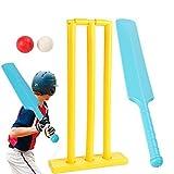 Cricket D'enfants Sets Cadeau Sport Jeu Cricket Contenu Bats,2 Ball, 1 Souches, Bail Plastique