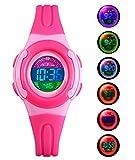 BHGWR Montres filles, Montre numérique imperméable d'enfants avec le chronomètre/alarme/EL, Digital Montres...
