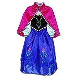 Nice Sport Robes Enfant Princesse Anna La Reine des Neiges Cosplay Costume Déguisement Cadeau...