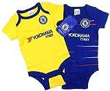 Officiel Chelsea Football Club Nouvelle Saison Home & Away Kit Paquet de 2 Combinaison Bébé Croissance...