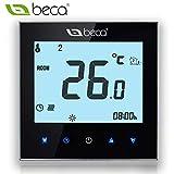 Thermostat Régulateur de chaudière, BECA Commutateur Écran tactile à cristaux liquides 3A Chaudière à...