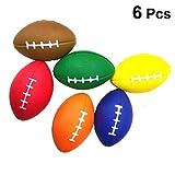 Amosfun Lot de 6 balles de rugby en mousse douce pour jeux de ballon de baseball pour anniversaire, fête...