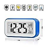 VADIV Réveil Digital CL01 Alarme Horloge Numérique Répétition Sommeil LCD Affichage Rétro-Éclairage avec...