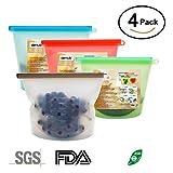 Sac de stockage d'aliments en silicone réutilisable, résistant aux fuites, récipient de conservation pour...