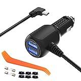 Chargeur de voiture pour Garmin GPS Nuvi, Aqhqua Garmin GPS Auto Power Adapter chargeur, câble mini USB...
