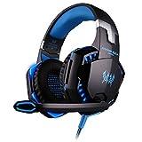 BlueBeach G2000 3,5 mm Gaming Headset jeu casque stéréo bandeau Éclairage LED avec micro pour PC Ordinateur...