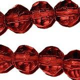 100pièces 6mm Perles de verre cristal à facettes-Rouge foncé-A3516