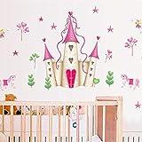 Beilinheng Amovible DIY Princesse Château Star Star Fantasy Filles Chambre Sticker Mural Décoratif Enfants...