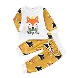 Bébé Filles Enfants,T-Shirts à Manches Longues pour BéBé Dessin Animé Fox pour Enfants + Pantalons...