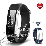 CHEREEKI Fitness Tracker, Moniteur de Fréquence Cardiaque Activité Tracker étanche IP67, Smart Bracelet...