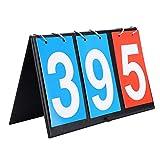 Tableau de Bord Sportif, Portable Flip Tableau de Score, Dessus de la Table 2/3/4 Chiffre Compteur de Points...