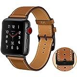 MroTech Bracelet Compatible pour iWatch 44mm Bracelet en Cuir véritable Bracelet de Remplacement pour iWatch...