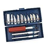 13pc Durable Ensemble De Précision Ensemble Exacto Style Multi-Fonction Couteau Passe-Temps Artisanat...