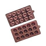 kuygdvd-FR Moule à Chocolat, 15 concavités, Moule à gâteau Rose, Moule de Cuisson, décoration de gâteau,...