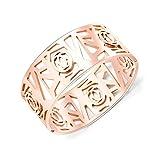 Joncs Bracelet Bracelets Magazine De Mode Magazine De Mode Bracelet Creux En Acier Au Titane Plaqué Or 18...