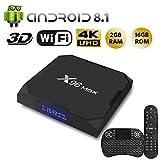 NBKMC S905X2 X96MAX Android 8.1 TV Box [2GB RAM+16GB ROM] Boîtier TV 3D+4K USB3.0 Android 8.1 Smart TV, avec...