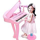 HYZH Clavier et Piano pour Enfants 37 Touches avec Microphone et Tabouret Instrument de Musique Clavier...