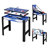 homelikesport 5 en 1 Table de Jeux, pour Hockey, Billard, Basket, Tennis de Table, Arc, 91.5*48*76cm