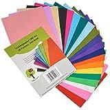 OfficeTree papier de soie 300 feuilles A4 - papier vitrail - 20 couleurs - bricolage loisirs créatifs...