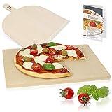 Amazy Pierre à pizza avec pelle à pizza – Plaque de cuisson de pâtes à pain et à pizza au goût...