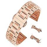 18mm Solide Bracelet de Rechange en Acier Inoxydable 304 pour Montre d'affaires Ceinture Montre Sport Art en...