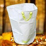 LJXiioo Sacs de déchets de Jardin, Sacs de déchets de Jardin avec des poignées (50 * 70cm),10bags