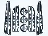 Accessoires de voiture pour le drapeau britannique - Ensemble de 7 pièces Accessoires Mini Cooper: Tapis de...