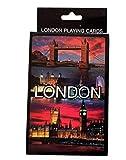 Lot de Cartes à Jouer–Un jeu de cartes dans une boîte avec imprimé Londres by Night, London Souvenir...