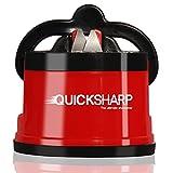 QuickSharp EasyPRO Aiguiseur de Couteaux avec Ventouse Sécurité   Rouge