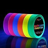 UV Fluorescente Néon Ruban Pour Lumière Noire[Plus Grande Taille], Gaffer Tape,Blacklight Réactif Bande,...