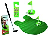 Relaxdays Mini-golf de toilettes Mini-golf pour toilettes Set Jeu de Golf Set pour la salle de bain 6 pièces