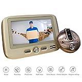 GW Caméra vidéo Intelligente de 4,3 Pouces avec Sonnette vidéo, avec détection vidéo, détection de...