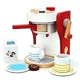 yoptote Jeux Imitations Enfants - Machine a Cafe Kit Cuisine Enfant Jouet en Bois de Jouet éducatif Jeu de...