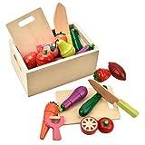 CARLORBO Jouets en Bois pour 2Ans–magnétique Pretend Play Food Toys Ensemble de Fruits et de légumes...