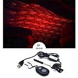 Lumières d'ambiance romantique Lumières décoratives de contrôle sonore de musique de voiture d'usb de ciel...