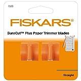 Fiskars Lames titanium originales pour massicots Surecut Plus, 2 unités, Coupe droite, SureCut Plus, Orange,...