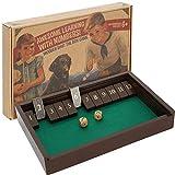 aGreatLife Jeu de Société Shut The Box – Boîte de dés Vintage à l'ancienne en Bois de Luxe pour 4...
