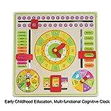 Calendrier pour enfants 2019, Calendrier d'horloge de formation multifonctionnelle, Jouet parent-enfant pour...