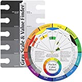 Color Wheel Pocket Guide with Gray Scale Value Finder - for both the amateur and professional artists by ASW