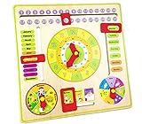 Gobus Horloge d'enseignement Jouet de développement éducatif Horloge numérique en Bois pointeur pour Les...