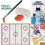 Vovotrade Jeu de Hockey Sur Toilette Jeu de Décompression Jeu Amusant de Hockey Sur Glace Toilet Hockey Game...